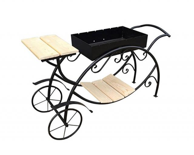 Купить мангал с колесами Воронеж Карета. Купить дачный или садовый уличный небольшой передвижной мангал с колесами в Воронеже по низкой цене от производителя.