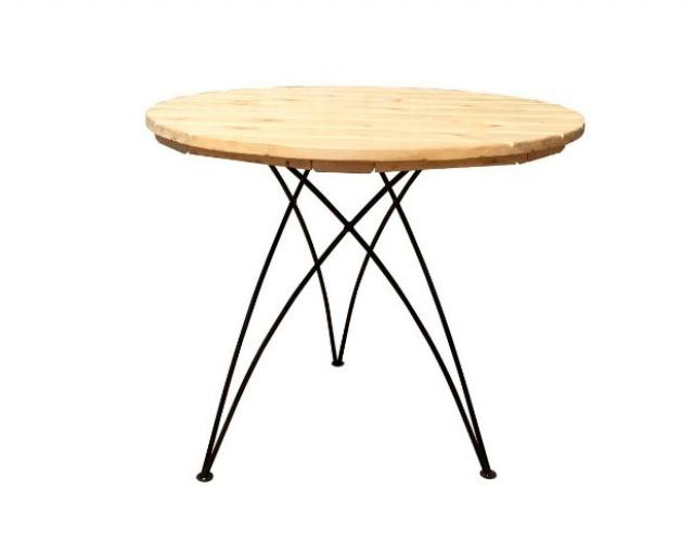 Купить круглый садовый дачный стол Тройник Воронеж. Купить недорогой круглый стол для приусадебного участка, дачи.