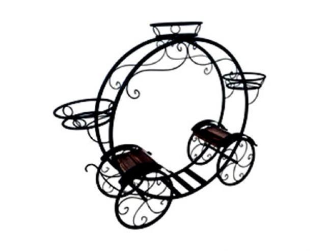 Садовая цветочница Карета Воронеж. Купить недорогую садовую декоративную фигуру для дачи