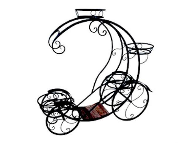 Садовая цветочница Карета Кабриолет Воронеж. Купить недорогую садовую декоративную фигуру для дачи