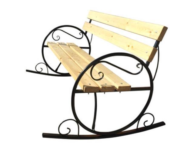 Купить Скамейка качалка со спинкой Воронеж. Купить дачную или садовую скамейку-качалку со спинкой в Воронеже по низкой цене от производителя.