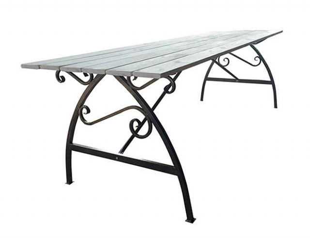 Купить садовый стол Воронеж с деревянной столешницей. Купить недорогой деревянный садовый стол для приусадебного участка, дачи.